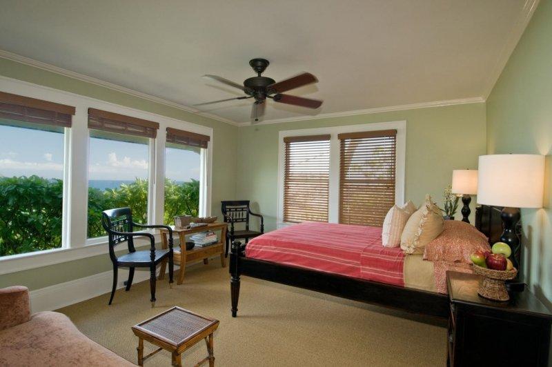 .这间套房设有更衣室衣柜和单独的入口,连接私人休歇木制平台,通